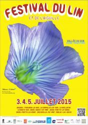 Affiche festival du lin 2015