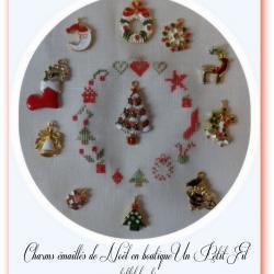 Charms émaillés de Noël