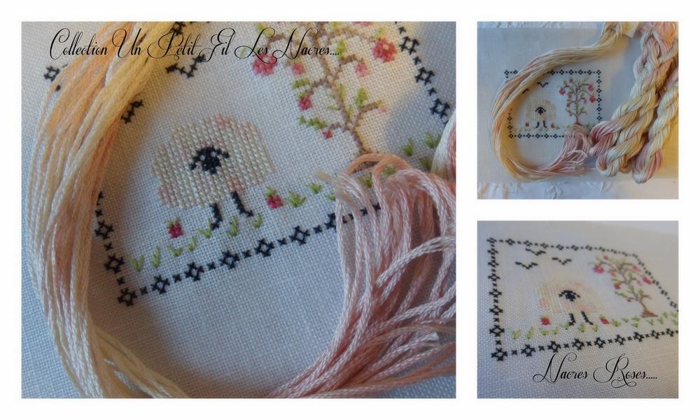 Collection de fils les nacres nacres roses un petit fil 2