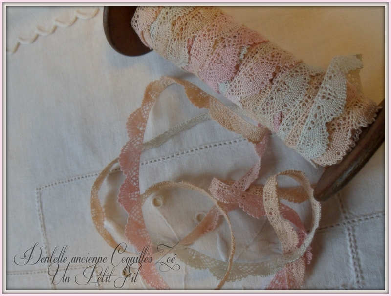 Dentelle ancienne coquilles zoe 1