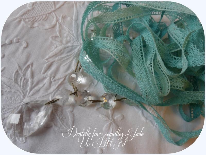 Dentelle fines coquilles jade 1