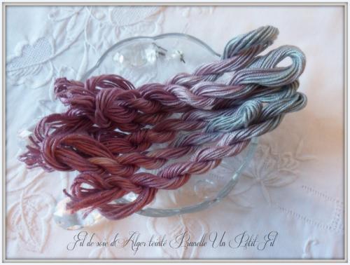 Fil de soie d alger teinte prunelle un petit fil
