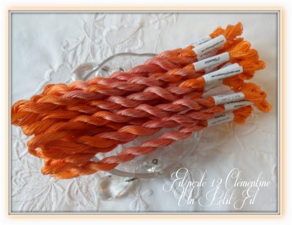 Fil perle 12 clementine