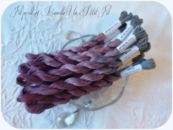 Fil perle 8 prunelle un petit fil