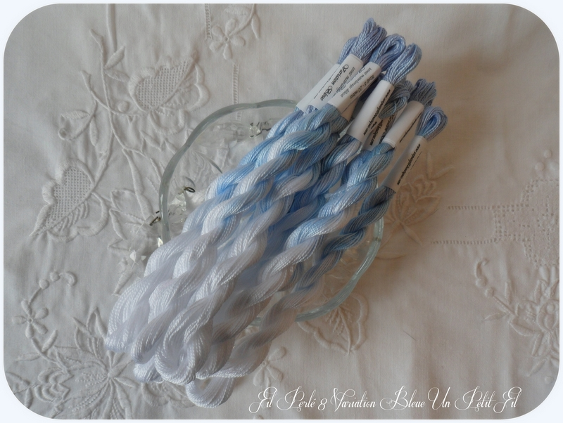 Fil perle 8 variation bleue un petit fil