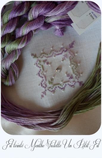 Fil teinte mouline menthe violette un petit fil 2