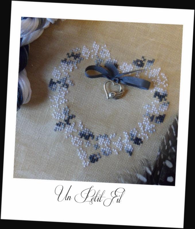 Fil Variation Noire en 8 M et palette 4 M avec coeur