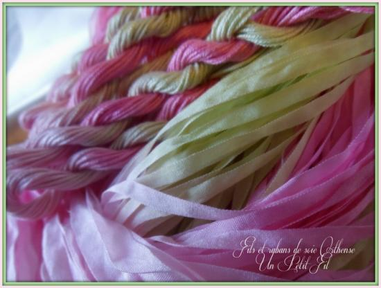 Fils et rubans de soie orthense