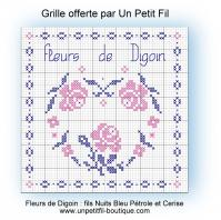 Grille fleurs de digoin offerte par un petit fil 1