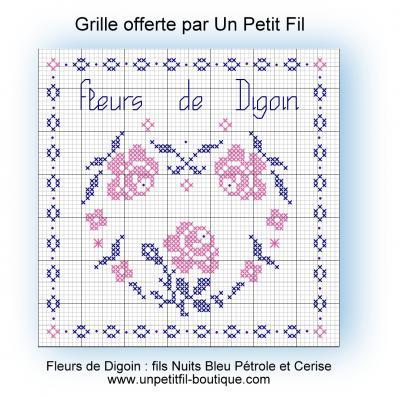 Grille fleurs de digoin offerte par un petit fil 1