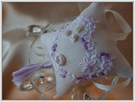 Image kit variation violette hardanger et soie
