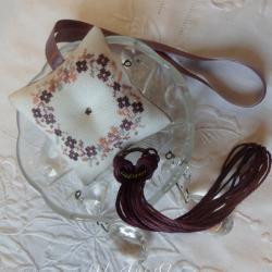 Kit pendouille à ciseaux (nouvelle grille) Crépuscule Aubergine)