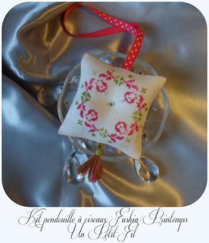 Kit pendouille a ciseaux fushia printemps 1