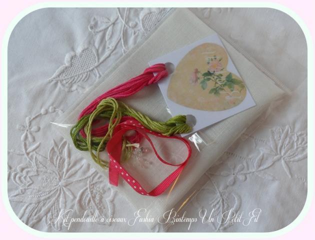 Kit pendouille a ciseaux fushia printemps 4