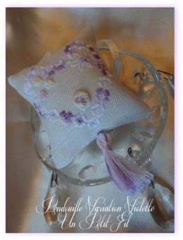Kit pendouille a ciseaux hardanger et soie variation violette 1