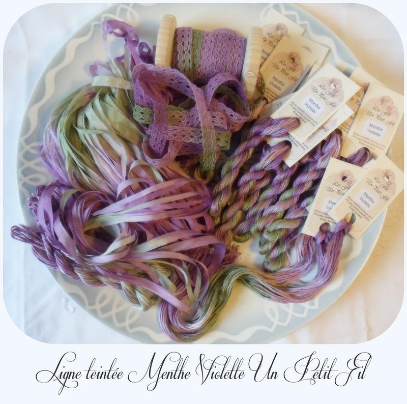 Ligne teintee menthe violette un petit fil 1
