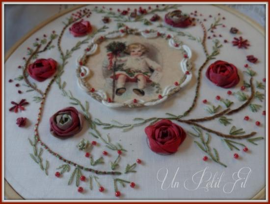 Noel a l ancienne version broderie traditionnelle et soies 2