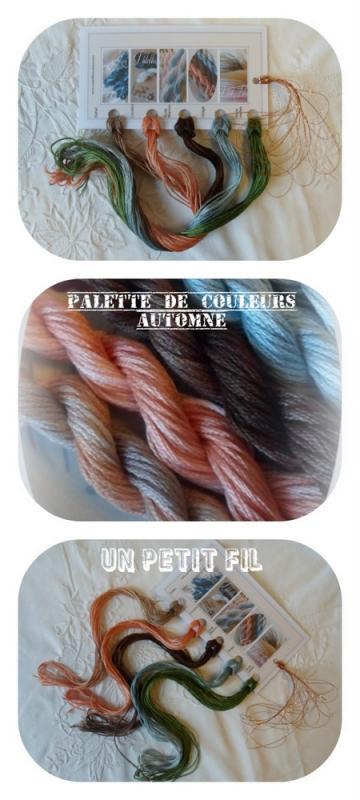 Palette de couleurs automne un petit fil