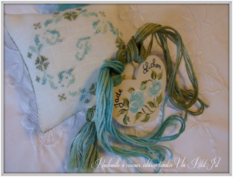 Pendouille lichen jade un petit fil edition limitee 2