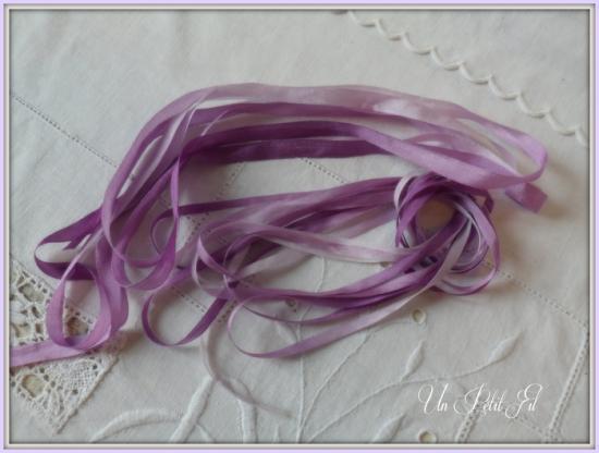 Presentation rubans violette