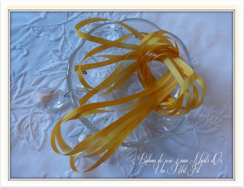 Ruban de soie 4 mm teinte nuits d or un petit fil 2