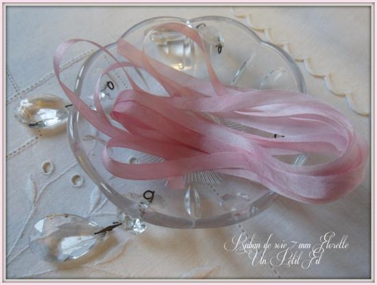 Ruban de soie 7 mm florette