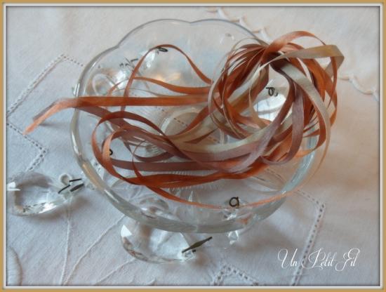 Ruban soie 4 mm caramel un petit fil
