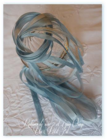 Rubans de soie 7 et 4 mm orage un petit fil 2