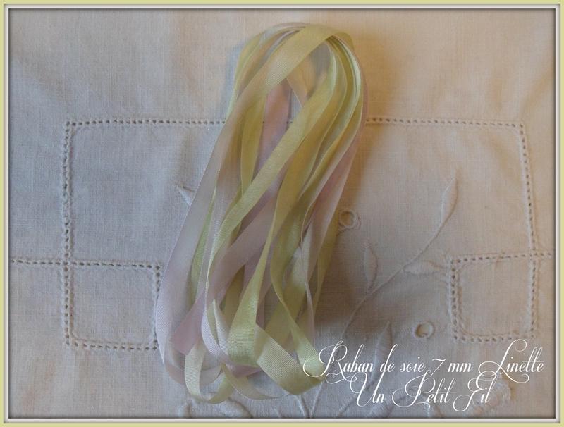 Rubans de soie 7 mm linette un petit fil