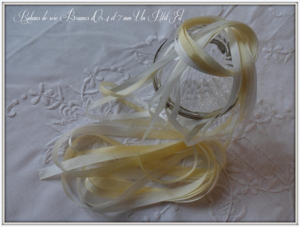 Rubans de soie brumes d or 4 et 7 mm un petit fil 1