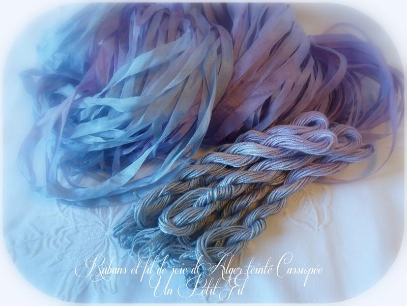 Rubans et fils de soie d alger teintee cassiopee un petit fil