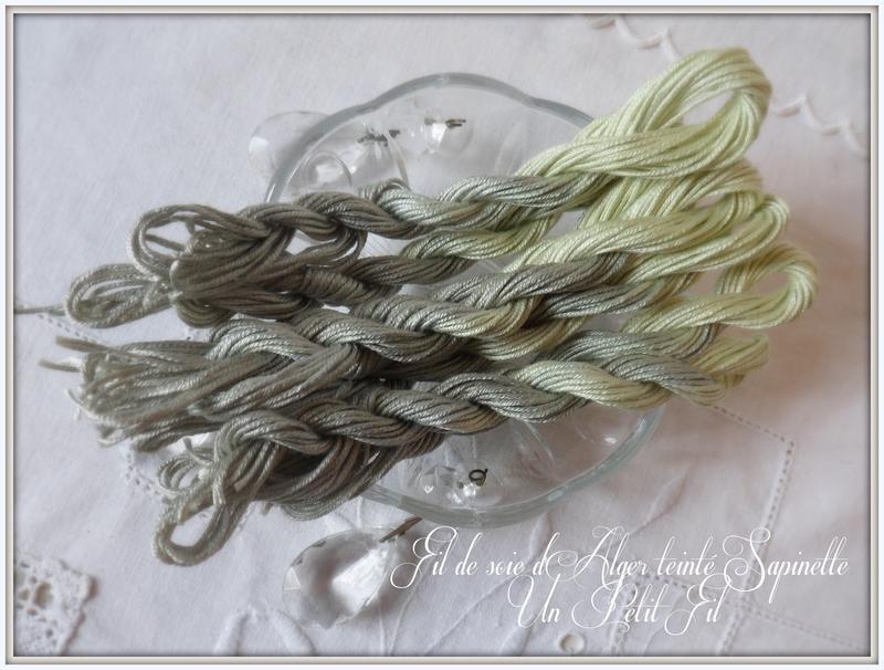 Soie d alger teintee sapinette un petit fil 1