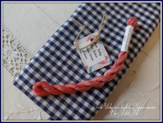 Tissu vichy marine 2