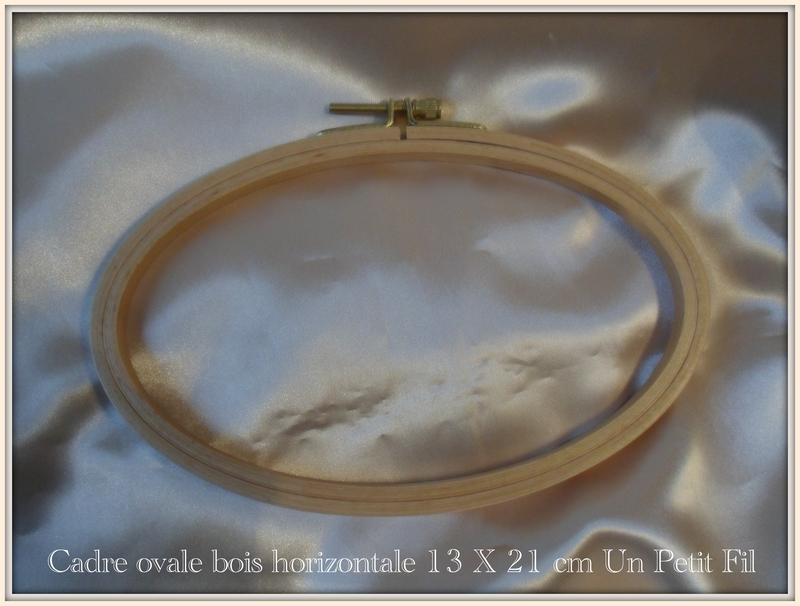 Cadre ovale bois horizontal 13 x 21 cm un petit fil 2