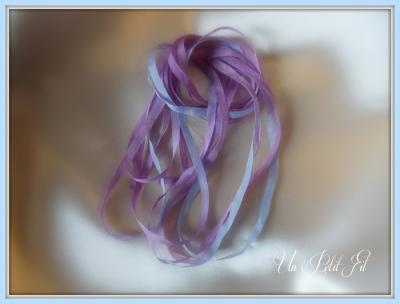 Ruban de soie Cassiopée 4 mm