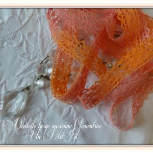 Dentelle ancienne large clementine un petit fil 1