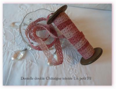 Dentelle Châtaigne double