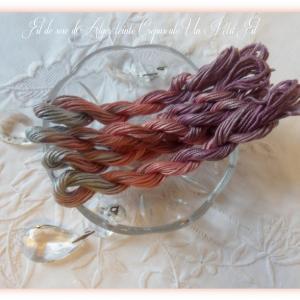 Fil de soie d alger teinte crepuscule un petit fil