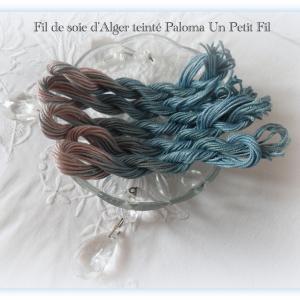 Fil de soie d alger teinte paloma un petit fil