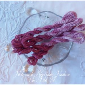 Fil de soie framboise un petit fil