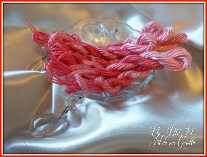 Fil de soie griotte 2