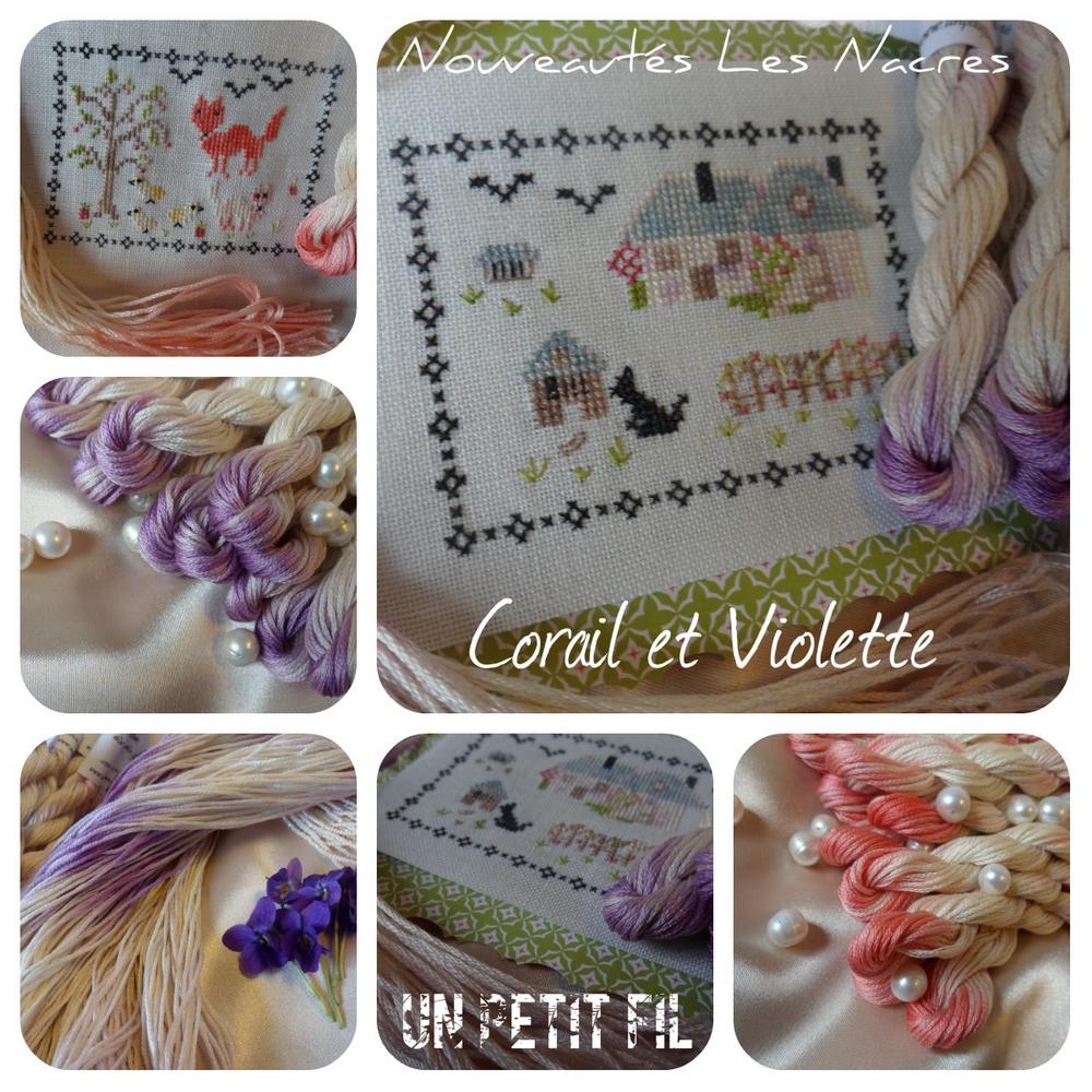 Les nacres Corail et Violette