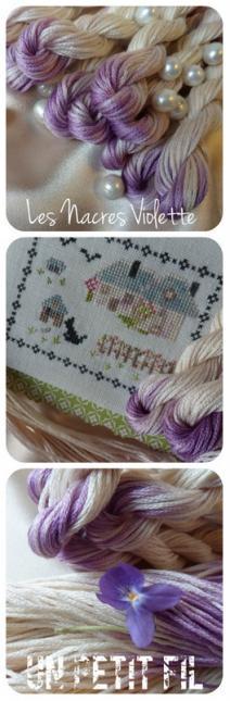Fil les nacres violette un petit fil 4