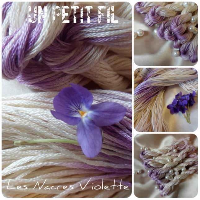 Fil les nacres violette un petit fil