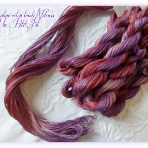 Fil mouline coton teinte velours un petit fil