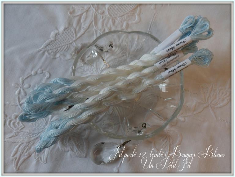 Fil perlé 12 Brumes bleues