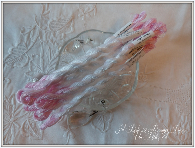 Fil perle 12 brumes roses un petit fil
