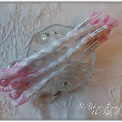 Fil perlé 12 Brumes Roses