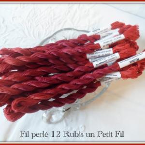 Fil perle 12 rubis