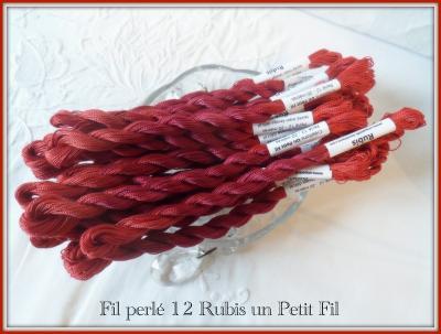 Fil perlé 12 Rubis